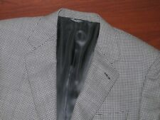 RECENT Canali Brown Label Gray Houndstooth Puppytooth Sport Coat Jacket 52 42