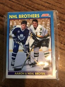 Lot of 27 - 1991 Score - Hockey Cards (Broten Brothers & Michel Goulet)