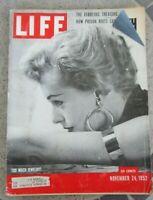 Life Magazine Nov 24 1952 TOO MUCH JEWELRY Egypt Farouk Treasure