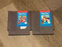 2 Game Lot Fisher Price I Can Remember & Perfect Fit Nintendo Nes Authentic