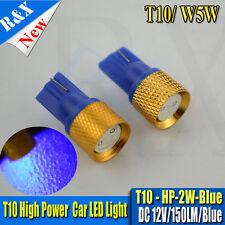 4pcs T10 LED Blue W5W High Power 2W XENON HID Side REGO LIGHT PARKER WHITE BULB
