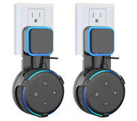 2X Outlet Wall Mount Hanger Holder Stand for Amazon Echo Dot 3rd Generation