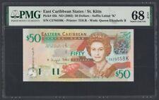 East Caribbean States St.Kitts 50 Dollars 2003 UNC (Pick 45k) PMG-68 EPQ