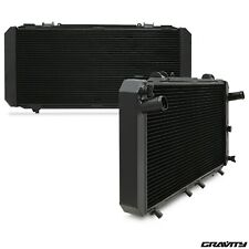 40mm BLACK ALUMINIUM ALLOY RADIATOR RAD FOR TOYOTA MR2 MR-2 SW20 2.0 TURBO 90-95