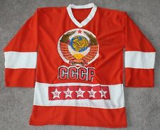 AUTOGRAPHED #20 Vladislav Tretiak vtg CCCP Soviet Union Russia Hockey Jersey Red