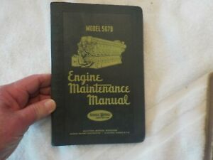 VINTAGE 1951 EDM ENGINE MAINTENANCE MANUAL #252B MODEL 567B ENGINES