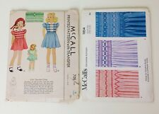 Vintage 1930's Girl's Smocked Dress Sewing Pattern Size 6 With Unused Transfer