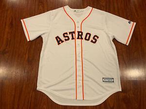 Majestic Cool Base Men's Houston Astros White Jersey Large L Baseball MLB