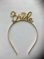 Metal Bride Tiara . Gold Bride Tiara . Hen Party Tiara .