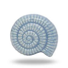 Ceramic Beach Shell Light Blue Lidia Cabinet Door Knob Home Decor Drawer Pull