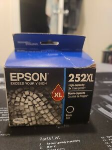 Genuine Epson 252XL BLACK High Capacity Ink Cartridge - exp 07/2023 - NEW!