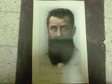 "Judaica Herzl COLOFUL POSTER 50*32 CM TMUNA EARLY 1940"" ISRAEL RARE"
