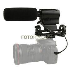 Na-q7 Escopeta Dv Micrófono Estéreo De Micrófonos Para Canon 5d Mark Ii Iii 7d 550d 600d 60d