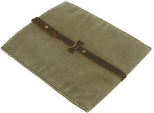 New Polo Ralph Lauren Army Green Canvas Leather Tablet iPad Case Media Holder