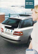 Fiat Stilo Multi Wagon 2003-04 German Market Sales Brochure Active Dynamic