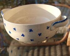 Schüssel Villeroy & Boch Torgau Schale Henkel Art Deco Keramik Blau Kleeblätter