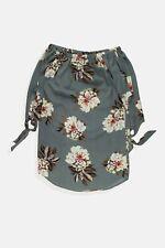 Womens Cameo Rose grey floral off shoulder bardot blouse top Size 10