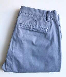 Bonobos Pants / Chinos, 31 x 30, Blue-Gray, Slim Straight Fit, Cotton, Exc Cond
