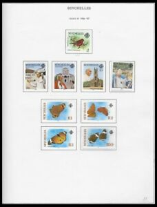 SEYCHELLES 1986-87 ISSUES ON 4 PAGES (LHM/UHM) *CLEAN & FRESH*