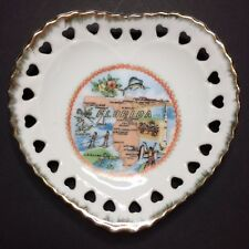 Vintage Heart Shaped Florida Decorative Collectible Souvenir Plate 5""