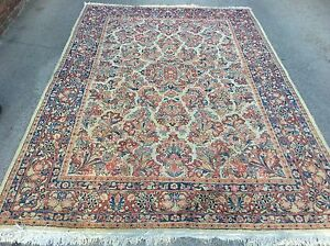 AUTHENTIC ANTIQUE SAROUK  ORIENTAL RUG HAND KNOTTED FLORAL 9' X 6' 3""