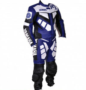 YAMAHA R1 Motorcycle Biker Leather Suit Racing Motorbike Leather Jacket Trouser