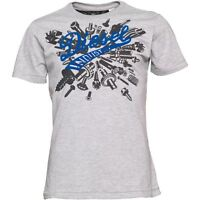 DIESEL T-SHIRT *** HORLEY *** GRAU, GR. S, SLIM FIT, GREY