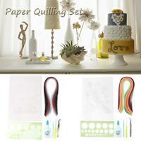 1 Set DIY Quilling Paper Craft Kit Ruler Tools Strips Tweezer For Decoration