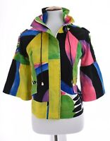Berek Womens Art to Wear Bell Sleeve Crop Jacket Retro 70s 80s Colorful Sz Small