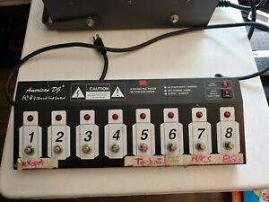 American DJ FC-8 Lighting Foot Controller 8-Channel UNTESTED powers up AS IS