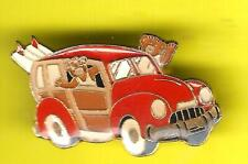 Fun Woody Surfer Car with Surfboards Lapel Pin ! surfboards wave sea sand sun