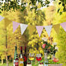 15 Flags Paper Glitter Bunting Banner Garland Celebration Hanging Decor EA7X