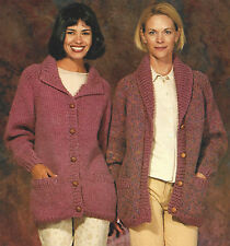 2 LADY,S JACKETS KNITTING PATTERN  30/44 INCH  QUICK EASY  (449)