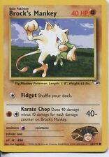 Pokemon Gym Heroes Common Card #68/132 Brocks Mankey