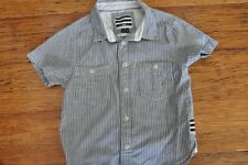 BILLABONG Boys button up collared chambray shirt top Size 4 Excellent