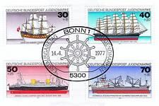 BRD 1977: Schiffe! Jugendmarken Nr 929 - 932 mit Bonner Ersttagsstempel! 1610