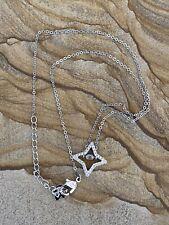 "Authentic Swarovski Crystal Star Pendant Necklace 16"" No Box"