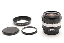[EXC+5]Nikon Nikkor-N Auto 24mm f/2.8 Ai Converted Wide MF Lens w/hood fromJapan