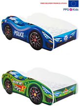 Racing Car Bed 2 colours, Childrens Bed with mattress 160x80cm FREE EU Delivery