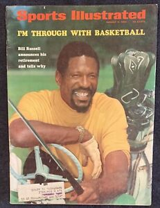 8.4.1969 BILL RUSSELL Sports Illustrated BOSTON CELTICS RETIREMENT * VINTAGE ADS