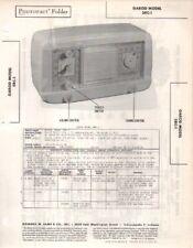 1948 GAROD 5RC-1 RADIO SERVICE MANUAL PHOTOFACT SCHEMATIC DIAGRAM REPAIR TUBE