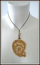 large pendentif  Christian lacroix vintage necklace  jewelry pendant antique