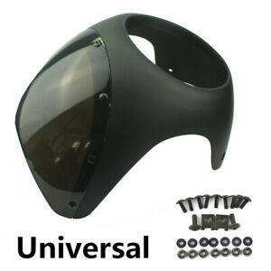 "Motorcycle Bike Handlebar 7"" Headlight Windshield Fairing Screen Set For Harley"