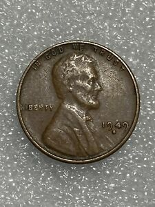 1947 D Die Break Filled Mint Mark Obverse Lincoln Wheat Cent Error Penny Coin