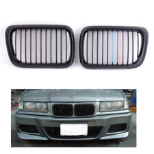 Pair of Matte Black Mix-color Front Kidney Grille for BMW E36 3 Series 97-99