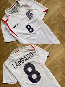 LAMPARD NATIONAL ENGLAND 2005 2006 2007 HOME UMBRO AWAY SOCCER JERSEY KIT RARE