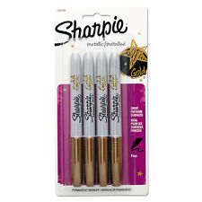 Sharpie Metallic Permanent Markers Gold 4/Pack 1829198