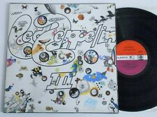 Led Zeppelin III. UK 1st Press 1970 LP Peter Grant Red/Plum Ex!