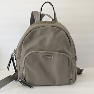 $249 Authentic KATE SPADE Medium Dawn Soft Taupe Nylon Backpack