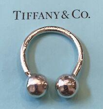 Tiffany Co. Sterling Silver .925 Small Horseshoe Shaped KeyChain KeyRing 5.6 Gms